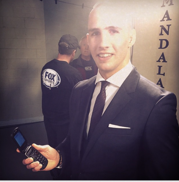 """Rory MacDonald has denounced that """"The Smartphone Era is dead"""" and now uses a flip phone."""