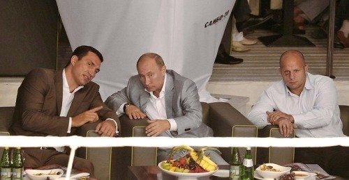 Wladimir Klitschko, Vladimir Putin and Fedor Emelianenko