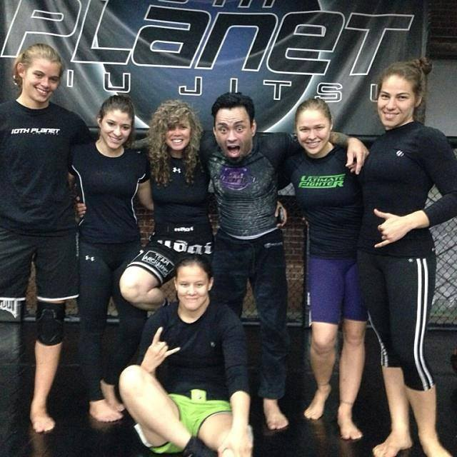Kathy hanging out with Eddie Bravo, Ronda, and her gang.