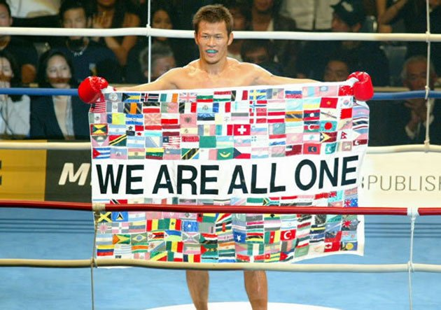 Genki Sudo in one of the most iconic MMA photos.