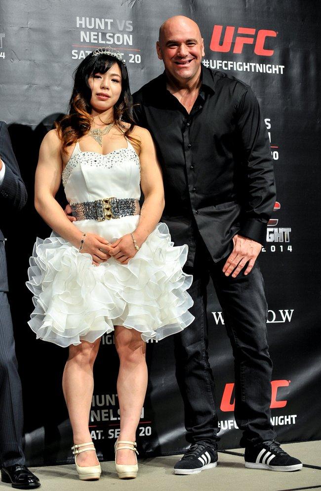 Rin Nakai with Dana White