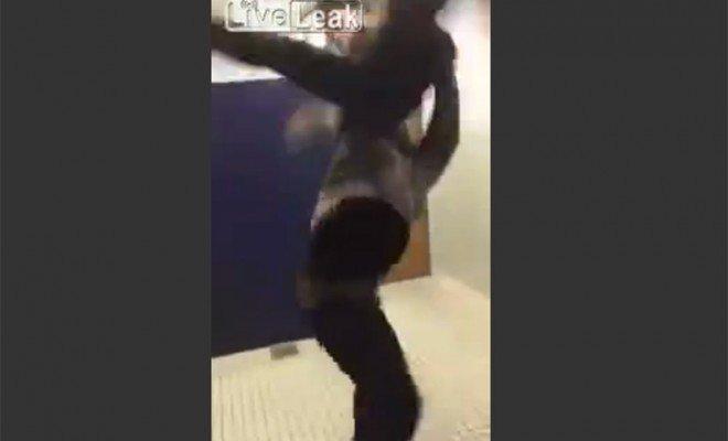 Kid Bathroom fight head slam