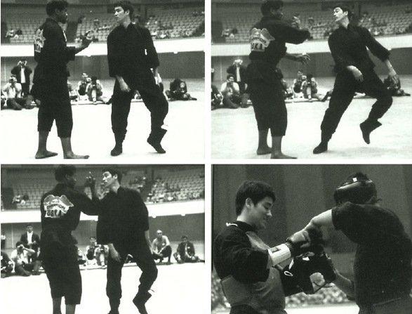 Victor Moore against Bruce Lee