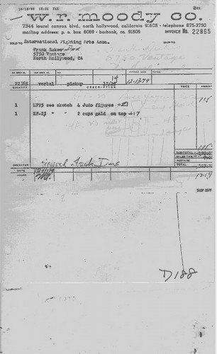 The receipt that was dismissed as fake in court.