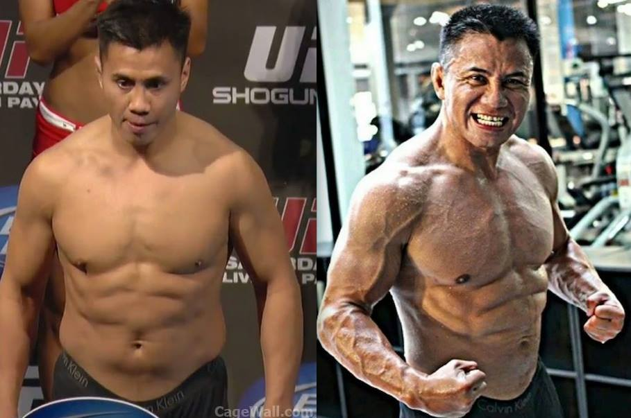 The typical transformation of a Michael Bisping opponent.