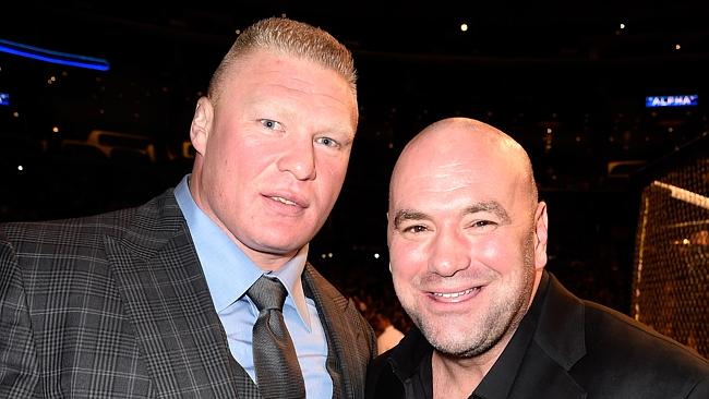 Brock and Dana at UFC 184 in February.