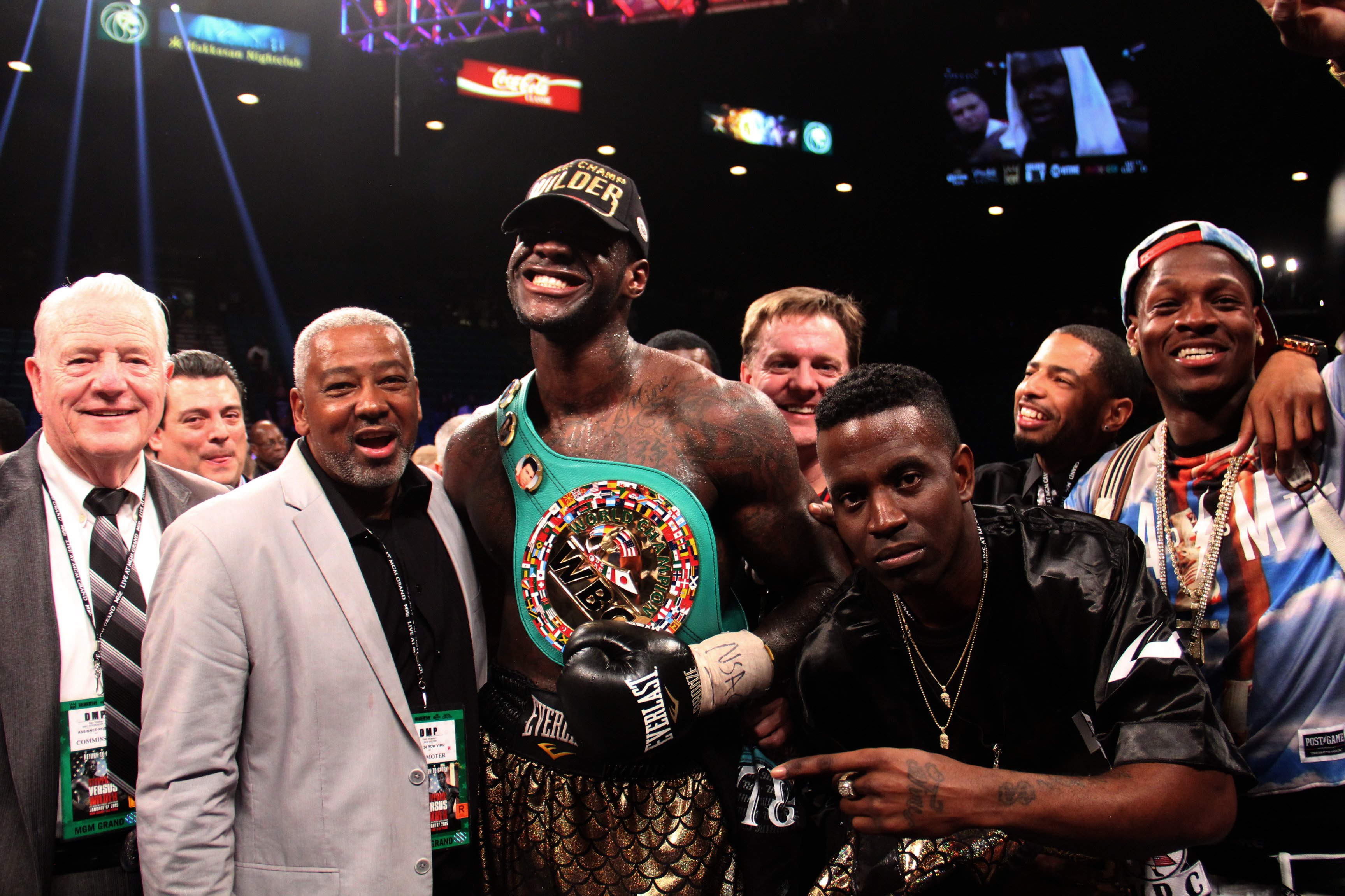 Deontay with his brother (far right)