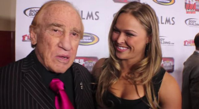 Ronda Rousey with her pal Judo Gene LeBell