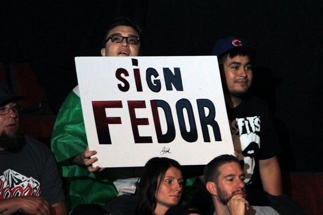 """""""Hey, we'd bring Fedor into the UFC, but he's not a real fighter, and won't fight for free."""" --Dana White, Probably"""