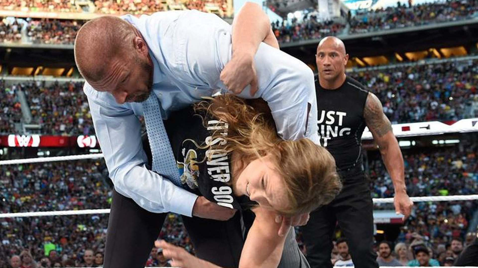 Ronda with her WWE appearance