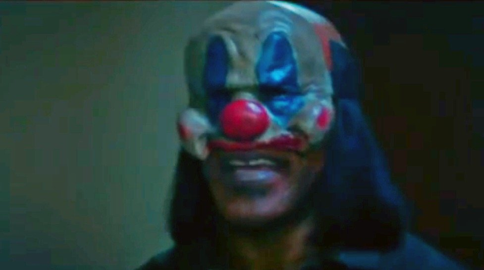 Mike Tyson in his Purge Mask