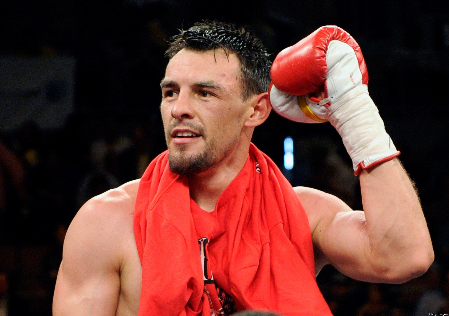 Robert Guerrero celebrates his unanimous-decision victory over Joel Casamayor in their junior welterweight fight at the Mandalay Bay Events Center July 31, 2010 in Las Vegas, Nevada. (Photo by Ethan Miller/Getty Images)