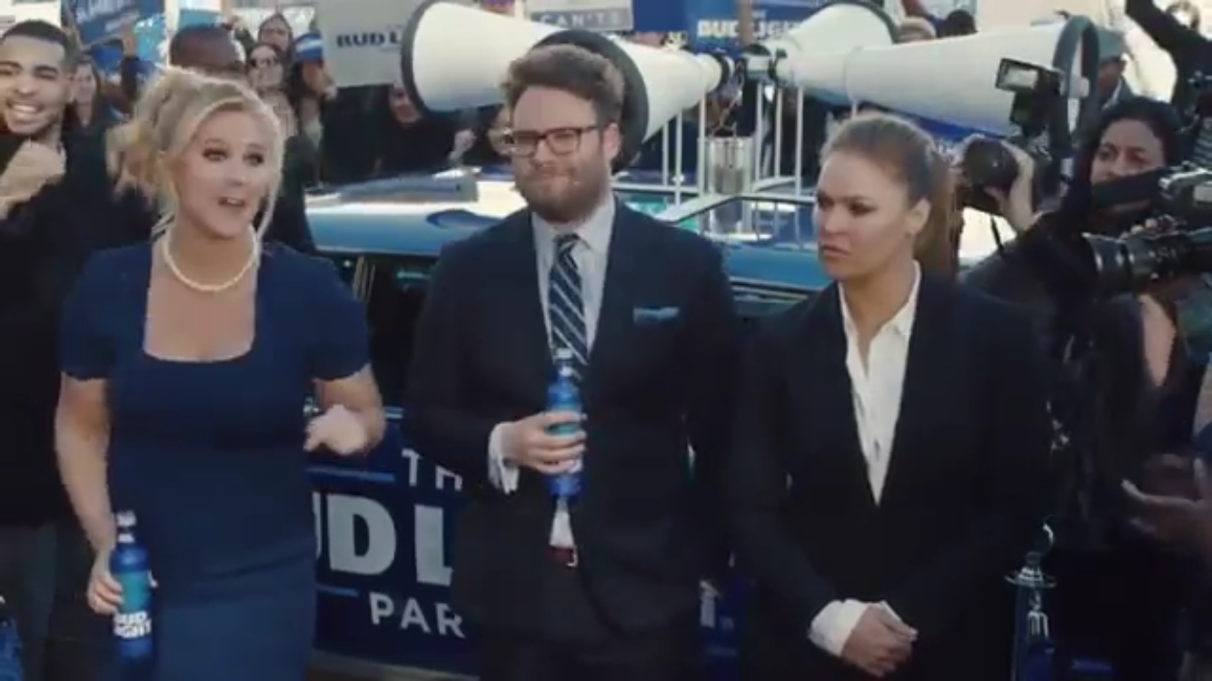 Ronda rousey stars in bud light super bowl commercial image aloadofball Choice Image