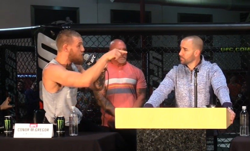 Making his point: Conor McGregor defends himself against steroids