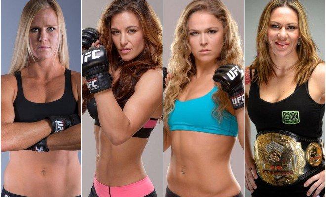 Holly Holm, Miesha Tate, Ronda Rousey and Cris Cyborg