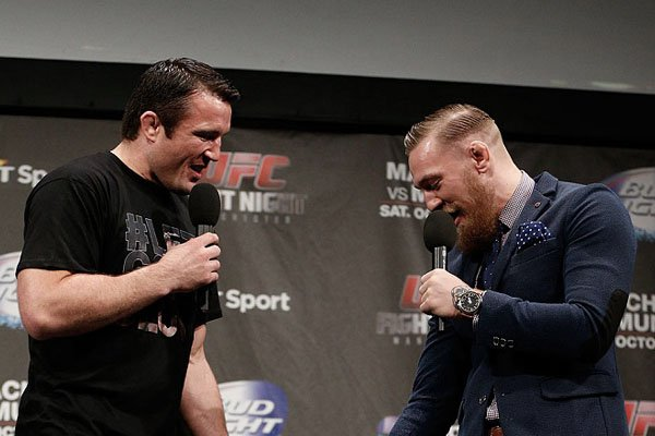 Chael Sonnen And Conor McGregor.