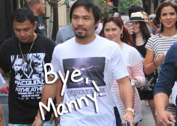 Manny Pacquiao at The Grove in LA