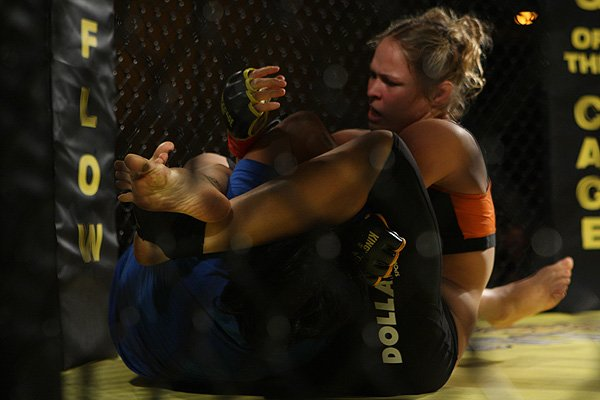 Seriously, that was a Ronda Rousey-caliber armbar by that kid. Photo by Sherdog.com.