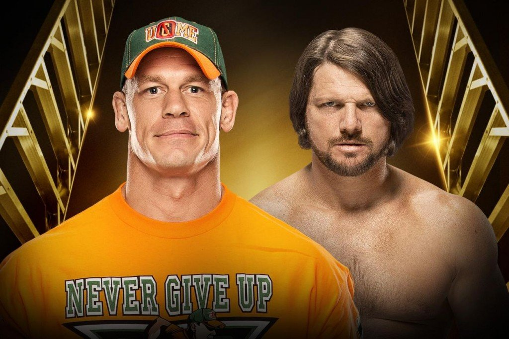 John Cena vs. AJ Styles is basically the Brock Lesnar vs. Fedor Emelianenko of wrestling. Photo by WWE.com.
