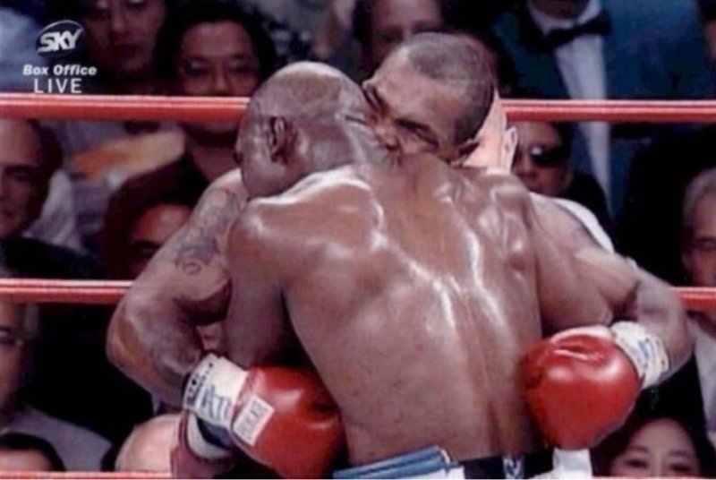 That Mike Tyson ear bite on Evander Holyfield