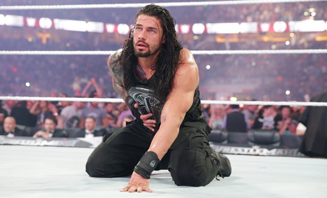 Roman Reigns, a WWE main eventer, was just recently suspended for a wellness policy violation. Photo by WWE.