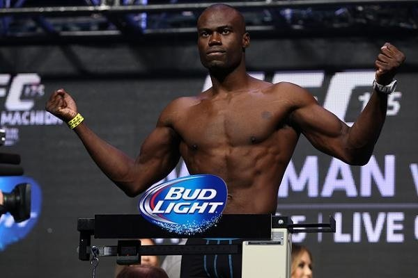 This fight didn't go so great for Uriah Hall. Photo by Sherdog.