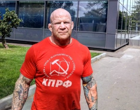 No, really. He's a communist. Photo via Instagram @jeffmonsonmma.