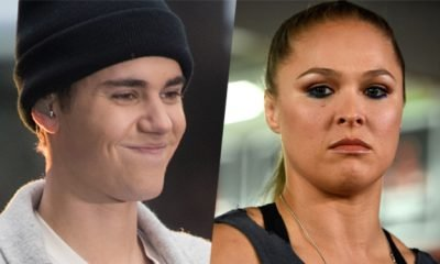 Justin Bieber and Ronda Rousey