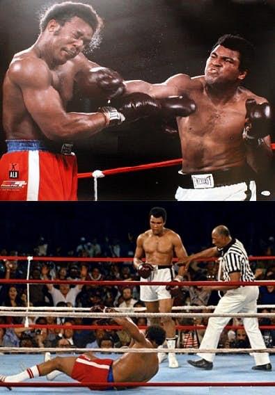 1. Muhammad Ali and George Foreman